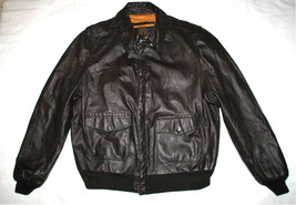 US ARMY AIR FORCE FLYERS MEN'S LEATHER BOMBER TYPE A-2 JACKET - SIZE 46 ... - $193.05