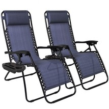 Zero Gravity Chairs Lot Of 2 Lounge Patio Chairs Outdoor Back Yard Beach... - $89.99