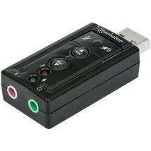 Manhattan(R) 151429 Hi-Speed USB 3D 7.1 Surround Sound Adapter - $28.52