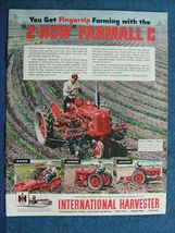1949 Farmall C Tractor Ad  Touch Control Featured - Raises - Lowers & Ad... - $8.06