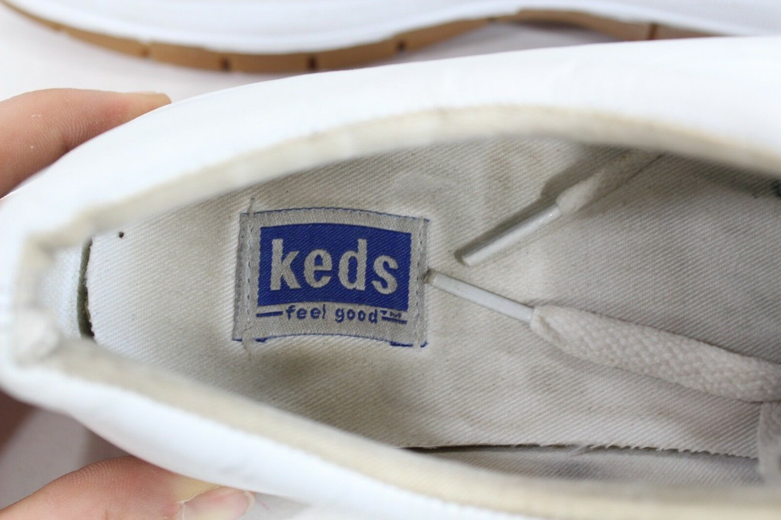 Vintage 90s Keds Womens 11 Champion Walker Lace Up Walking Shoes White