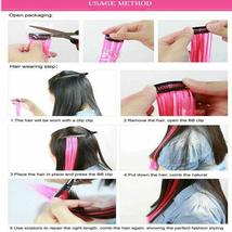 Long Natural Hair Clip In Rainbow Hair Extensions image 7