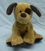 "TY Pluffies EXTRA SOFT BROWN PUPPY DOG 7"" Plush Stuffed Animal 2010 - $18.32"