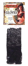 SteamPunk Cosplay Black Ruffled Lace Fingerless Gloves, NEW UNWORN - $8.79