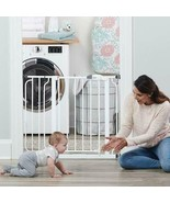 Baby Safety Gate Adjustable Extra Wide Walk Thru Durable Steel Ages 6-36... - $65.44