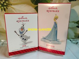 Hallmark 2014 Keepsake Ornaments Queen Elsa & Olaf Disney Frozen - $49.99