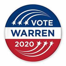 "3"" Pin-Back Button - Vote Elizabeth Warren 2020 - Shooting Star Design - $7.99"