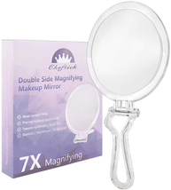 Cheftick Double Sided Hand Held Mirror - 1X  7X Magnifying Travel Makeup... - $17.23
