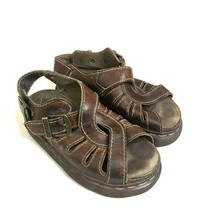 Dr. Martens Sandals Men Size 5 Brown Leather Made In England - $34.88