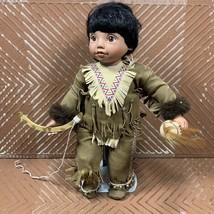 Danbury Mint  Little Buffalo Dancer (Elke Hutchens) 1993 Porcelain Doll ... - $25.89