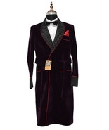 Special Gift For Him Purple Smoking Robes Designer Party Wear Long Coats - $179.99