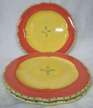 Pfaltzgraff Pistoulet Red & Yellow Dinner Plate set of 3 - $46.42