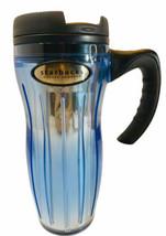 Starbucks Barista Travel Mug 2002 Irridescent Blue Lid Narrow Handle Luc... - $19.79