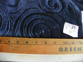 Dark Blue Swirl Print Velvet Fabric / Upholstery Fabric  1 Yard  R89 - $29.95