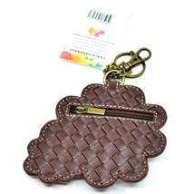 Chala Handbags Faux Leather Daisy Flowers Coin Purse Key Chain Keychain image 2