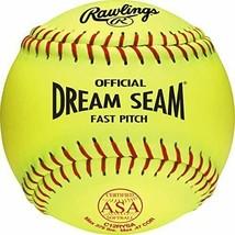 Rawlings Official ASA Dream Seam Fastpitch Softball, C12RYLAH, Single Ball - $12.86
