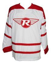 Custom Name # London Racers Hockey Jersey New White Adam Dobson Any Size image 3