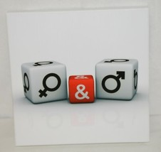 Unbranded SA8646A White Background Male Female White Red Dice Wall Picture image 1