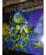 ORIGINAL 1985 IRON MAIDEN Album LIVE AFTER DEATH Vinyl COMPLETE 2 LP NEA... - $60.53