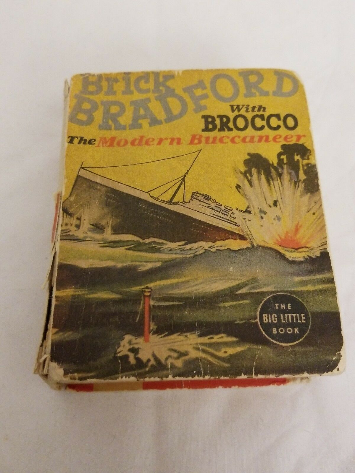 Primary image for Brick Bradford With Brocco Modern Buccaneer Big Little Book 1938 Ritt & Gray