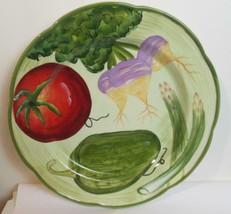 New Fitz & Floyd La Marche Accent Salad Plate Green Rim - $15.00