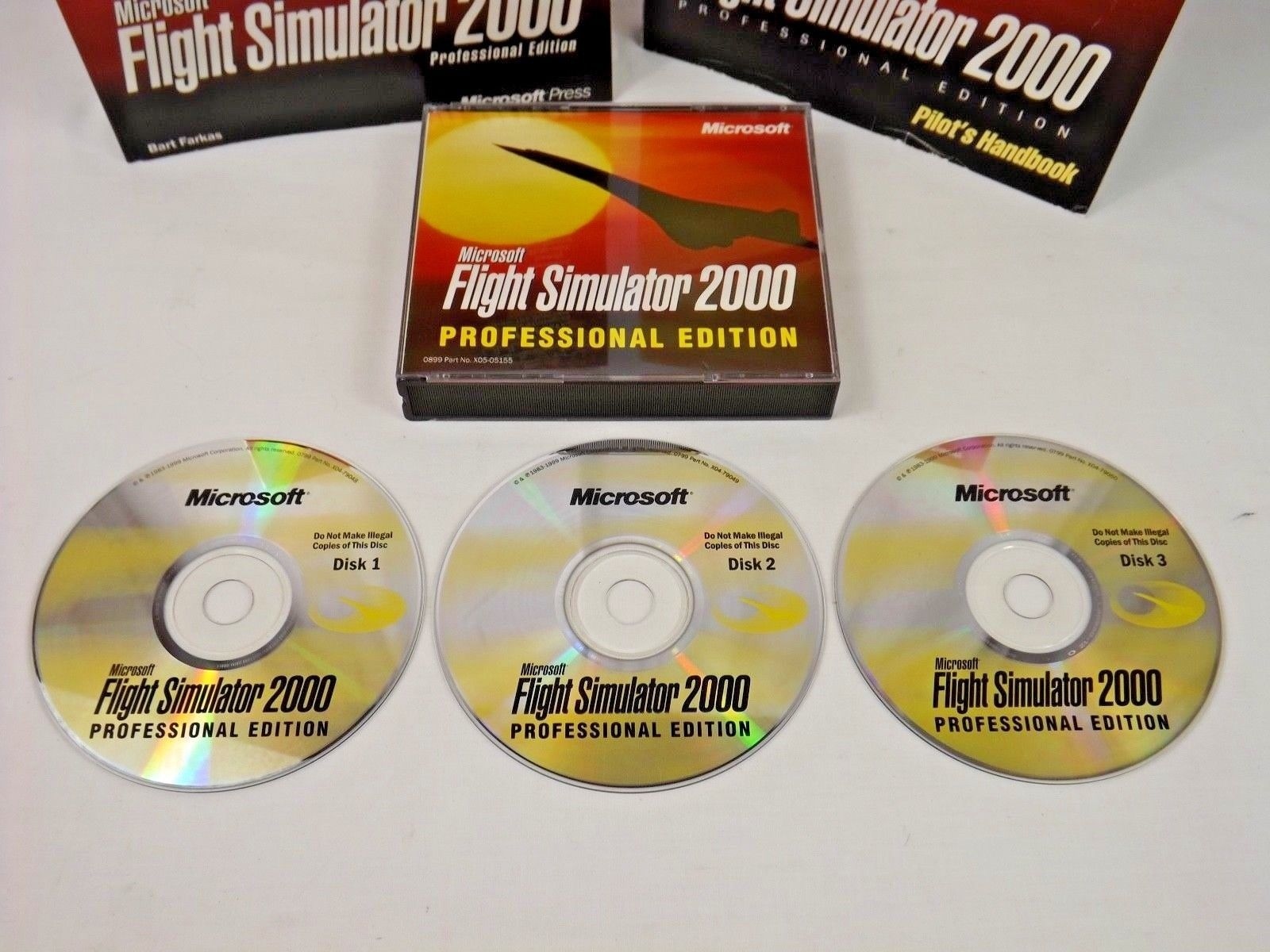 Microsoft Flight Simulator 2000 Professional Edition with Pilot Hand Book & MORE