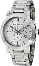 New Burberry Men Unisex Women Watch The City Swiss Luxury Round Stainless Steel  - $455.00+