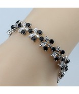 4PCS Jewelry Sets 925 Sterling Silver Black Zircon Ring Size 6/7/8/9/10 ... - $29.41