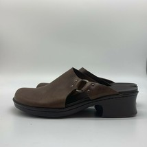 Timberland, Ladies Brown Leather Mules Slip-on Shoes, Size 8M - $18.81