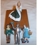 Hallmark 1997 Wizard of Oz King of the Forest (Set of 4) Miniature Ornam... - $39.60