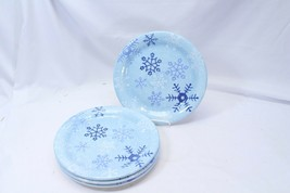 "Target Home Winter Frost Snowflake Dinner Plates 10.875"" Lot of 4 - $48.99"