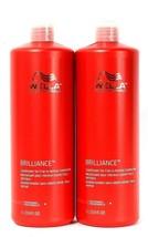 2 Wella Professionals 33.8 Oz Brilliance Fine To Normal Colored Hair Conditioner - $29.99