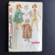 Simplicity Childs Robe in Three Lengths 1953 Sewing Pattern 4503 Vintage... - $9.78