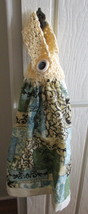 Kitchen Towel with Crocheted Top - Inspirational Savings - $4.00