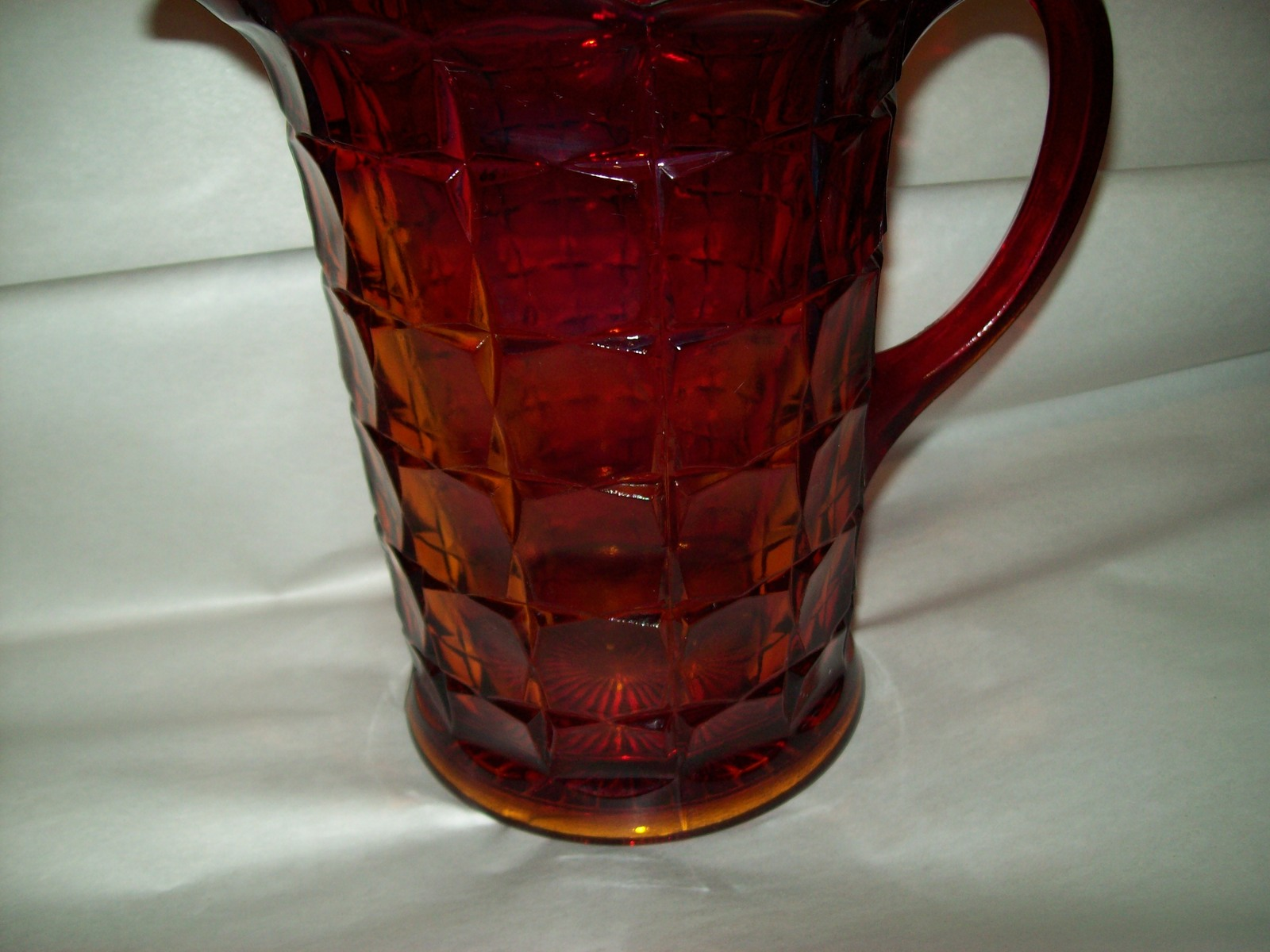 Indiana Glass Tiara Ruby Sunset Amberina Red Constellation Water Pitcher Vintage image 2