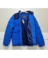 Retro NWT AMERICAN EAGLE Blue Coat Puffer Down Blend Winter Jacket AE Me... - $110.77