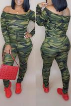 Casual Camouflage Printed Jumpsuit - $28.96