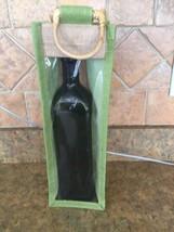 Wine bag Burlap,Canvas Jute Green Cane Handle Favor,Party,Gift  Bag Set ... - $25.00