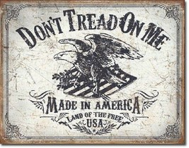 Don't Tread On Me American Land Free Flag Military Garage ShopWall Decor Sign - $9.99