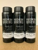 Redken Brews 5 Minute Color Camo Medium Ash 2oz (3 Pack) Fast Free Shipping! - $34.99
