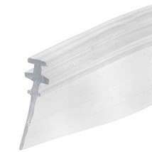 "Clear Shower Door Vinyl ""T"" Bottom Sweep and Seal - 30 in long - $6.95"
