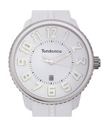 Tendence Round Gulliver Mens Watch White Silicone Strap NWOT - $75.00