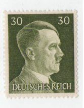 Nazi Germany Third Reich Hitler 30 Stamp MNH WW2 Era stamp - $0.93
