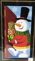 """NEW Christmas Door Cover 30"""" x 60"""" Snowman Carrying Gifts 30x60 5' Tall - $6.85"""
