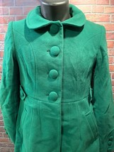 TOMMY HILFIGER Green Women's Winter Coat Size 4 Style H9457 Long Trench Full image 2