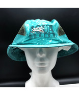 AQUA DESIGN FISHING HAT net cool cap apparel bahama blue camo camouflage... - $27.72