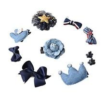 10 Pieces Small Hair Accessories for Girls Cloth Hair Pins Hair Clips Barrettes