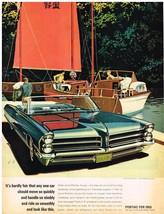 Vintage 1965 Magazine Ad Pontiac Move So Quickly Handle So Nimbly Ride So Smooth - $5.93