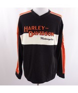 Harley Davidson Spell Out Embroidered Sweater Sweatshirt Rubber Shield M... - $43.53
