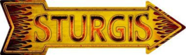 "Sturgis Novelty Metal Arrow Sign 17"" x 5"" Wall Decor - DS - $21.95"